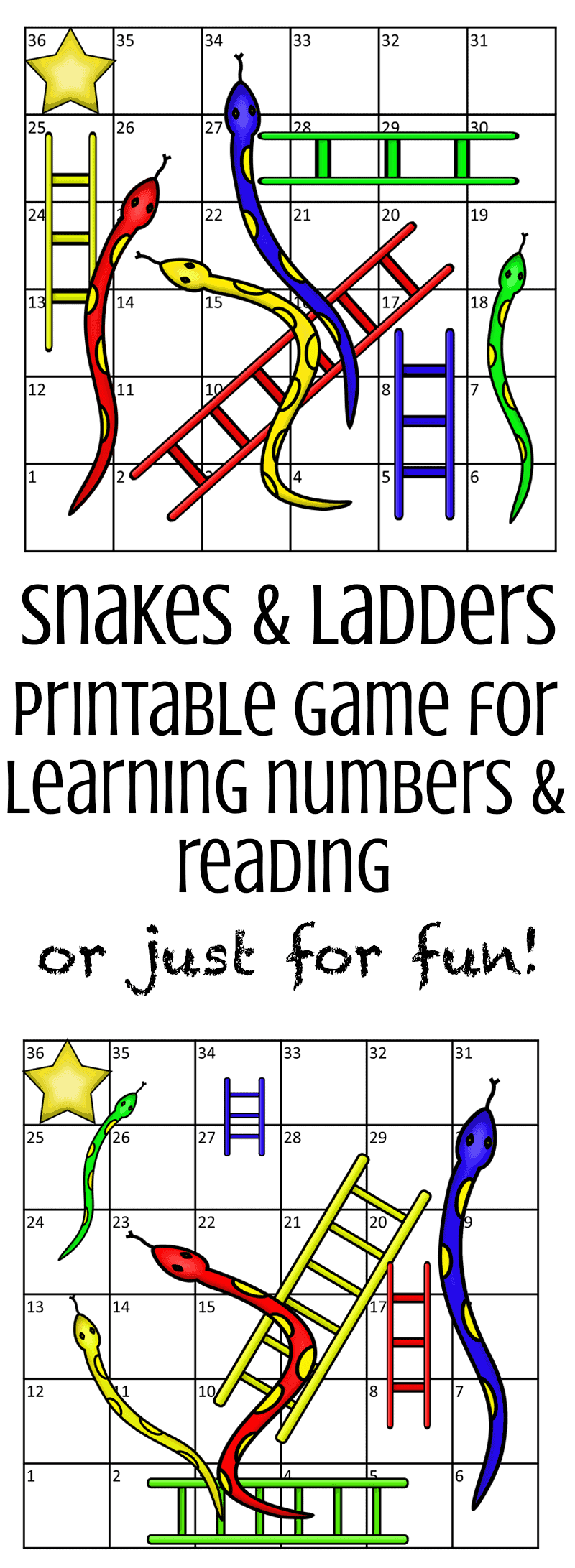 graphic relating to Snakes and Ladders Printable identified as Printable Snakes Ladders Sport