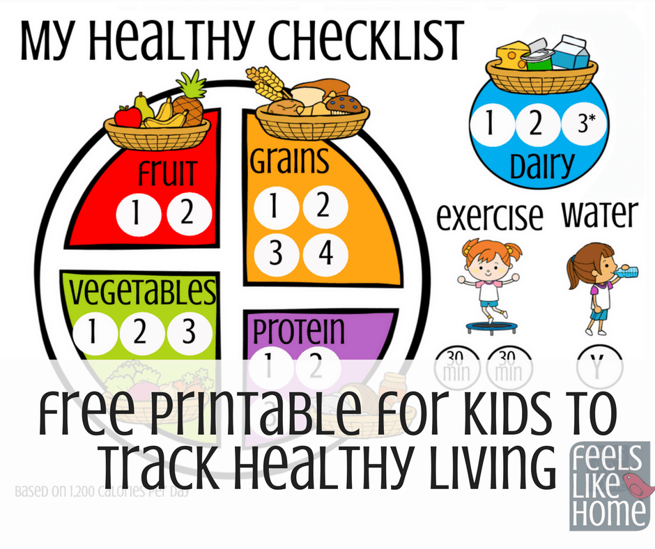 This free printable food tracker teaches kids healthy eating and healthy living concepts in a gentle way. Print and laminate and help them to complete it nightly to see how they can improve their food habits!