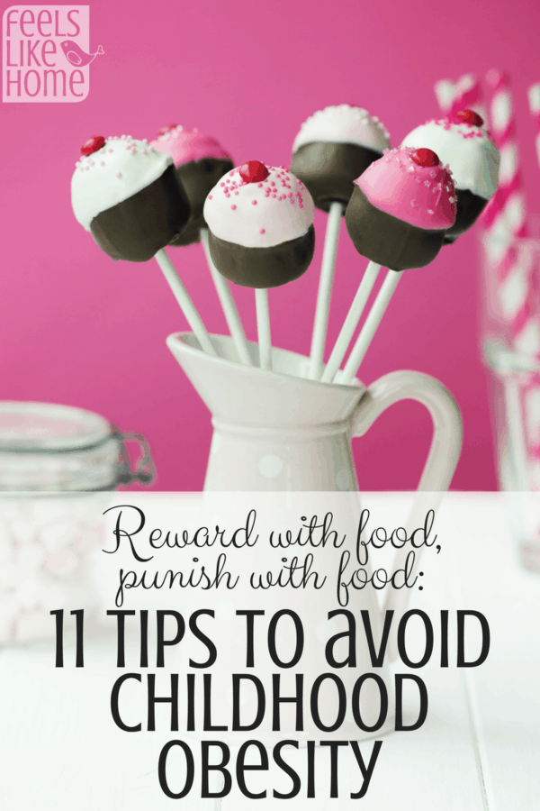 Reward with food, punish with food: 11 Tips to Prevent Childhood Obesity - Overweight kids are an epidemic in the US, and parents are largely to blame for unknowingly teaching their children unhealthy food habits. It's sad but true. This article gives 11 concrete ways we can shape up and teach our children better habits starting today.