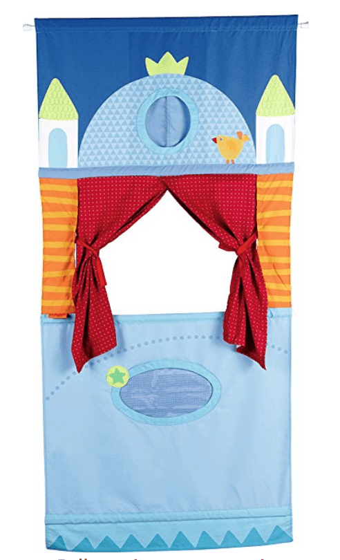 Pretend Puppet Theater (hanging door version) and princess puppets – I seriously considered buying this as Allie's big gift this year, but ultimately ...