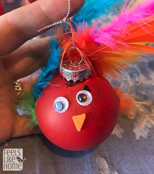 Allie\'s turkey Christmas ornament