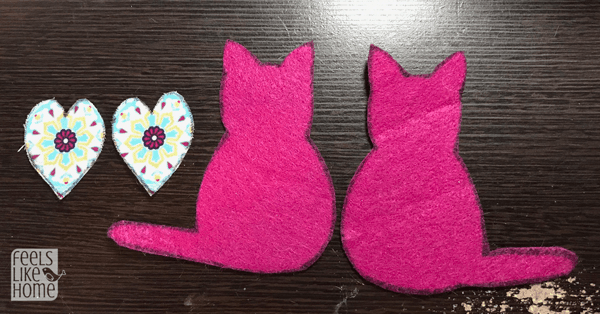 Cut out the cats and the hearts