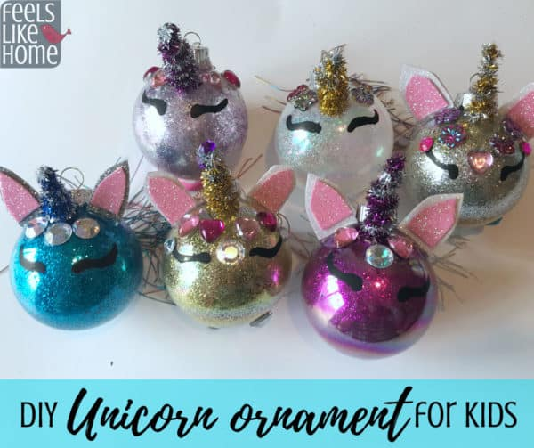 Unicorn Ornament Diy Christmas Tree Ornament Craft For Kids
