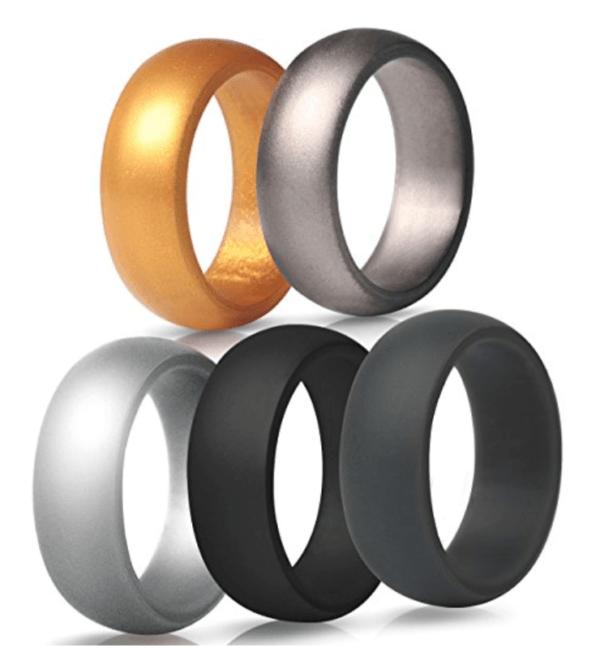 men\'s silicone wedding ring