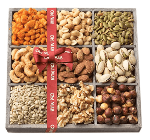 A pile of nuts and seds
