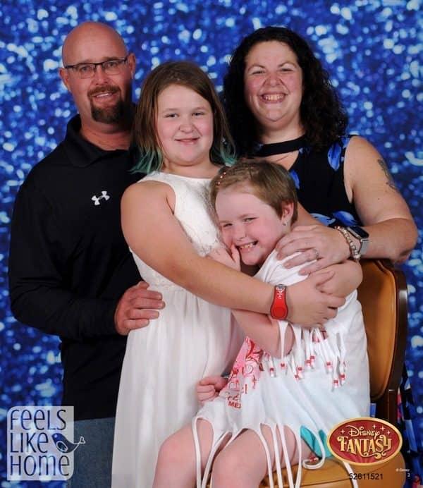Tara Ziegmont and her family posing for the camera