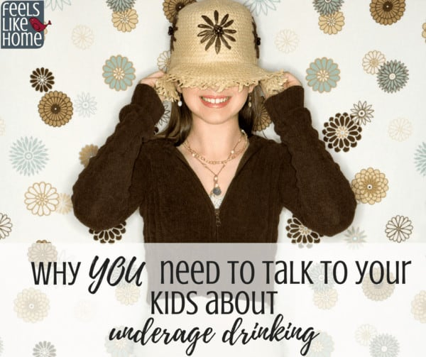 Why all parents need to talk to their kids about underage drinking - statistics, tips, ideas, and facts for how to talk to your children about drinking alcohol at parties or anywhere.