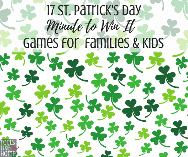 17 awesome St. Patrick's Day minute to win it games for kids and families - These simple, fun games can be used at home or in a classroom party and will inspire lots of laughs! Some easy ideas are for couples, teams, and some alone. The challenges use food, candy, and Dollar Store materials. Great family activities.