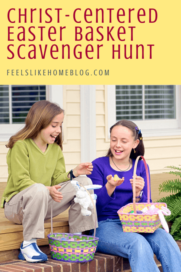 Free printable Christ-Centered Easter basket scavenger hunt for Easter morning - A treasure hunt is a great way to find your Easter basket. This hunt for kids, tweens, or teens uses the main points of the Easter story of Jesus as clues. Awesome Christian fun in riddles. Great for families at home. Religious and Bible-based. Easy clues using both indoor and outdoor spots.