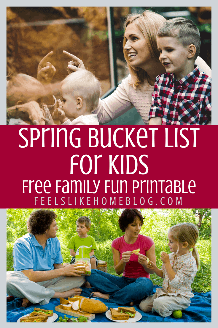 Spring Bucket List for Kids - Free Family Fun Printable