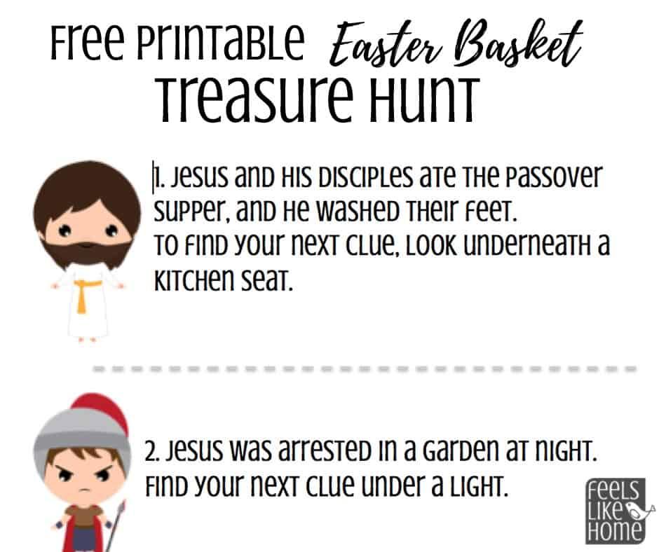 photograph about Printable Easter Basket named Christ-Based Easter Basket Scavenger Hunt