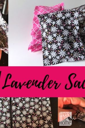 How to make no sew DIY lavender sachets - This quick, simple, and easy tutorial is a modern take on an old idea. There are many uses for beautiful smelling lavander bags, everything from drawers to closets to in the dryer. Could be made of scraps of lace, felt, or fabric. Easy to assemble and beautiful.