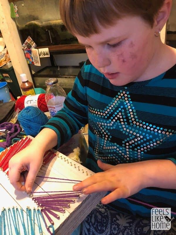 even children can do beginner DIY string art