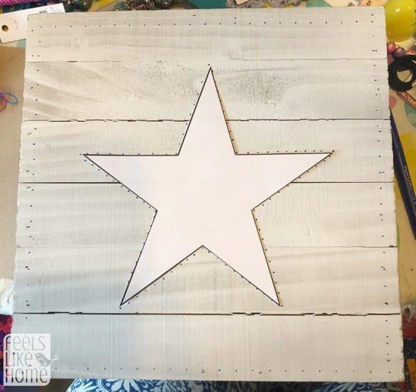 Wooden Nail String Art Kits Yellow Aurora Pattern with Supplies Wall Decor