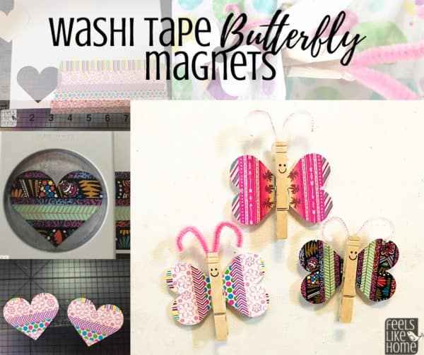 This super cute, simple, and easy washi tape craft also uses a popsicle stick and pipe cleaners to make a little butterfly or dragonfly. Great for toddlers, preschoolers, kids, teens, or adults to decorate the walls. Nice spring or summer decoration. Cute and creative ideas for girls and women.