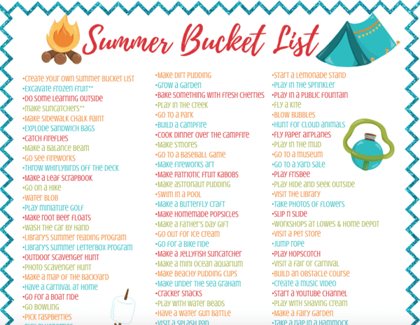 picture regarding Printable Activities for Adults referred to as Summer season Bucket Record for Children - Absolutely free Loved ones Exciting Printable