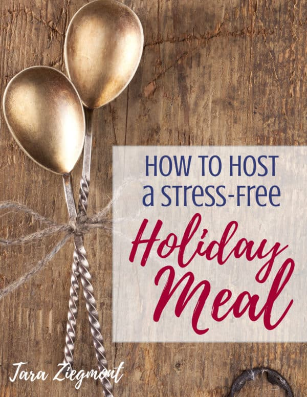 Hosting a Simple Thanksgiving or Christmas Dinner Tips - Whether it's your first time hosting or your tenth, this ebook is full of great tips for the menu (full of delectable, easy food like turkey and crockpot mashed potatoes), decorating, and more. Includes a checklist and shopping list printables.
