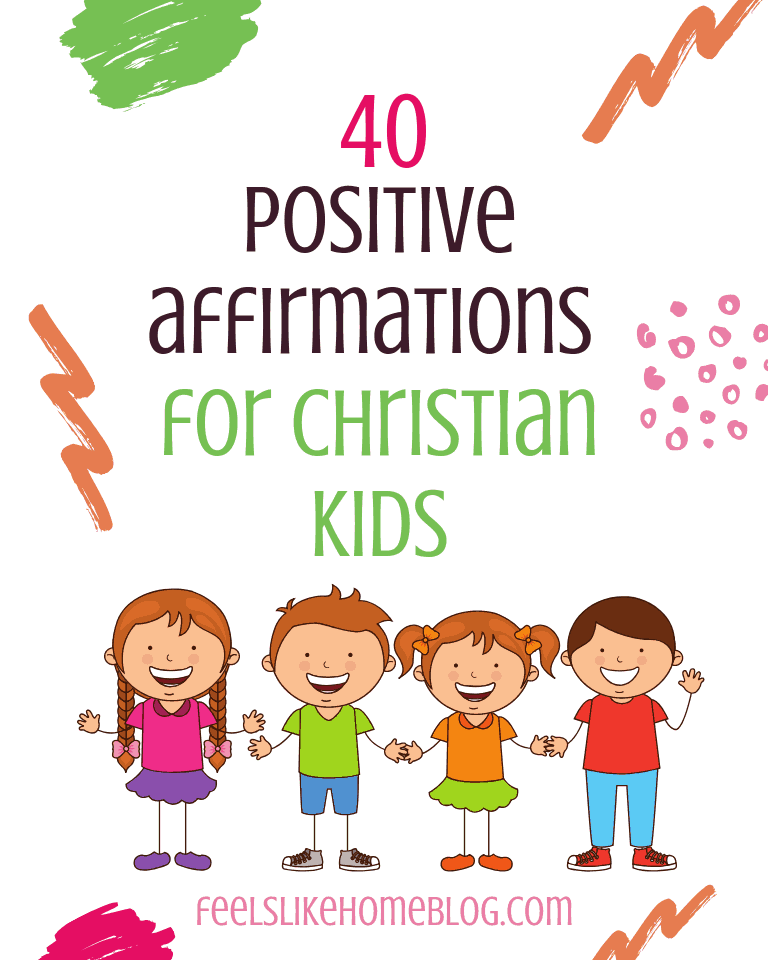 picture regarding Printable Positive Affirmations referred to as 40 Printable Certain Affirmations for Christian Young children (Primarily for Stress)