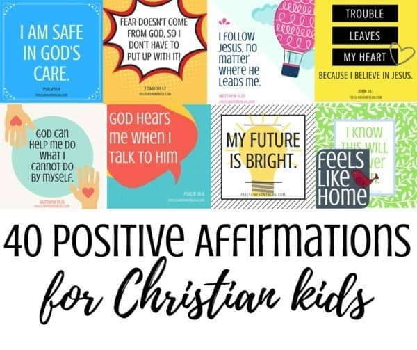 photo relating to Affirmation Cards Printable known as 40 Printable Good Affirmations for Christian Young children