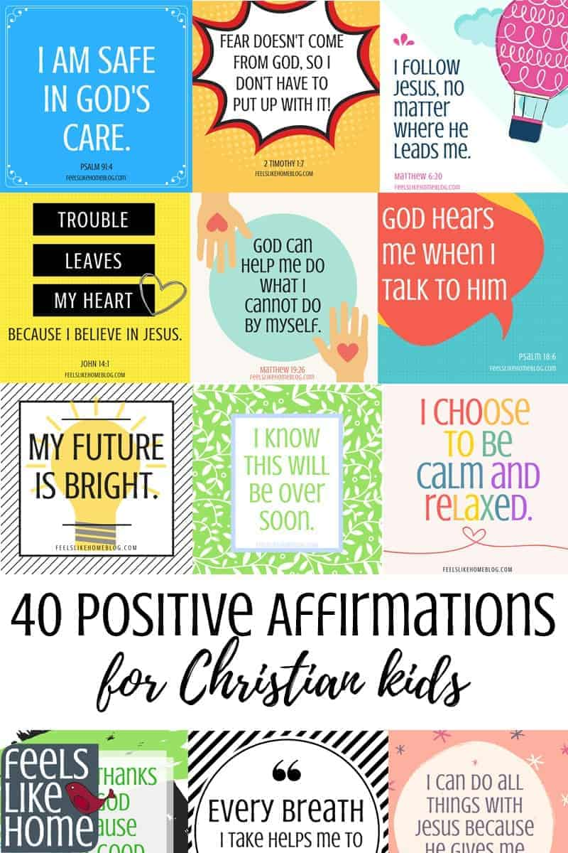 picture regarding Affirmation Cards Printable known as 40 Printable Guaranteed Affirmations for Christians with Stress