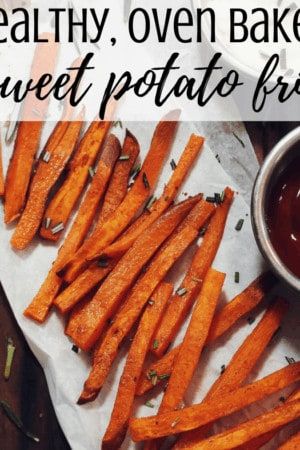 How to make the best healthy oven baked sweet potato french fries - homemade crispy fries are simple, quick, and easy to make. Includes tips for how to cut. Whole 30 and paleo approved.