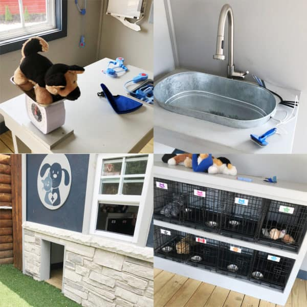 A veterinarian\'s office for pretend play
