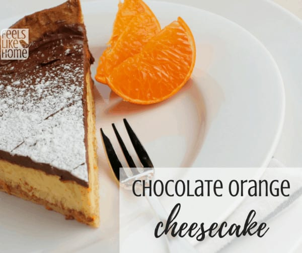 How to make the best homemade chocolate orange cheesecake from scratch - This DIY recipe is simple and easy but does take a bit of time. Top with chocolate ganache to hide any cracks and add a layer of richness and decadence. Original recipe uses graham cracker crumbs for the crust. You can leave out the orange extract for a real, classic New York style cake.