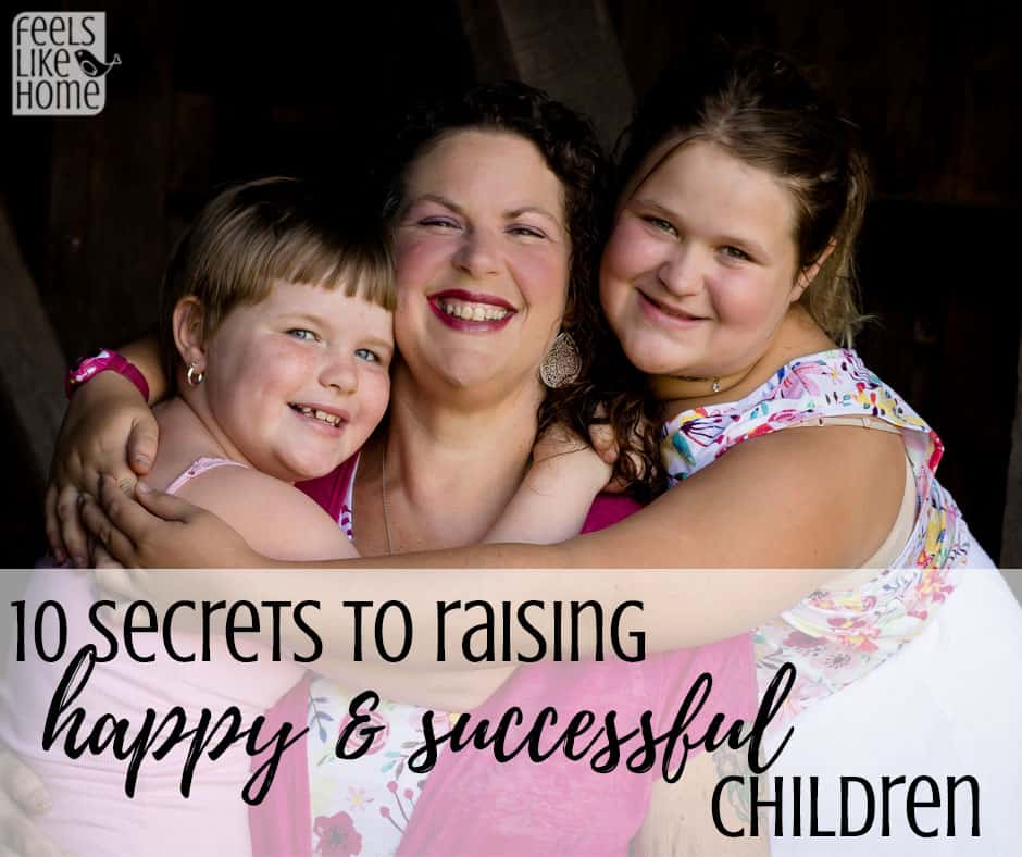 10 secrets to raising happy, successful kids - Children need love and affection, but what else? This positive article lists 10 tips, habits, and ideas and awesome quotes for moms and dads raising boys and girls.