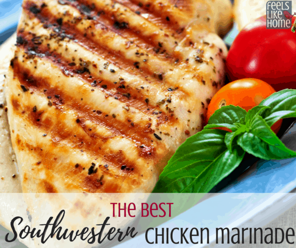 The best southwest marinade recipe for chicken, shrimp, or steak - Uses balsamic vinegar, olive oil, and seasoning mixes with cumin and oregano to make a slightly spicy mixture for grilled chicken. It's awesome and delicious!