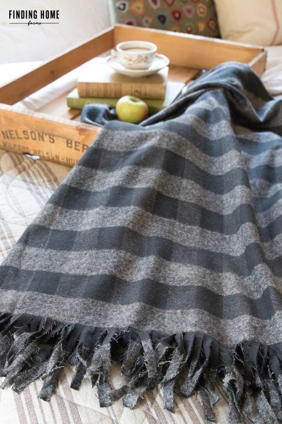 homemade flannel blanket