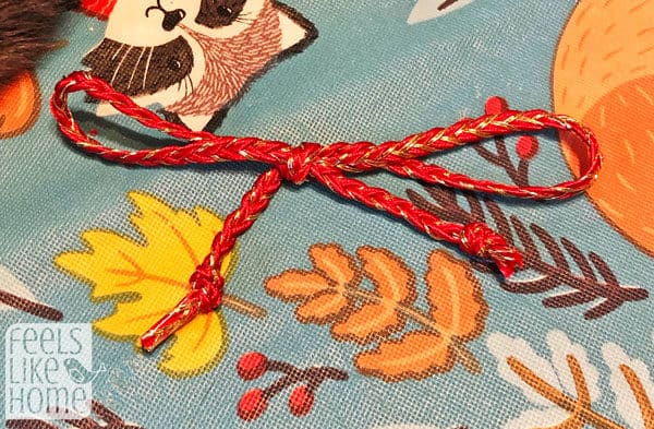 A close up of a bow
