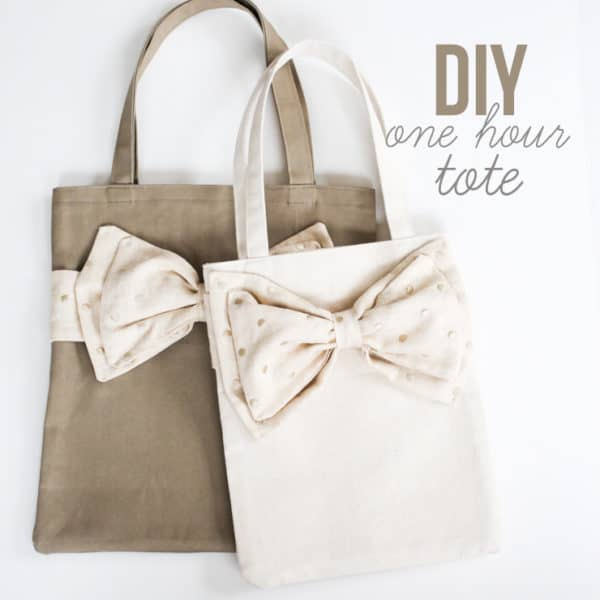 DIY one hour tote bag