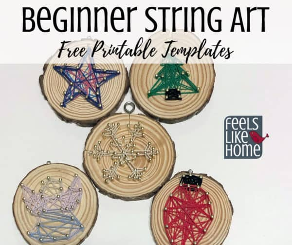String art Christmas ornaments