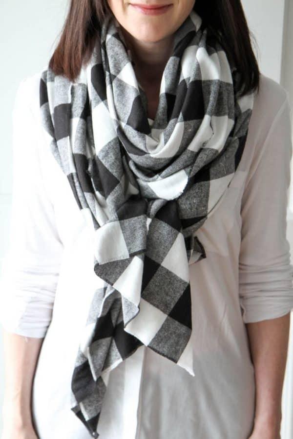 homemade blanket scarf