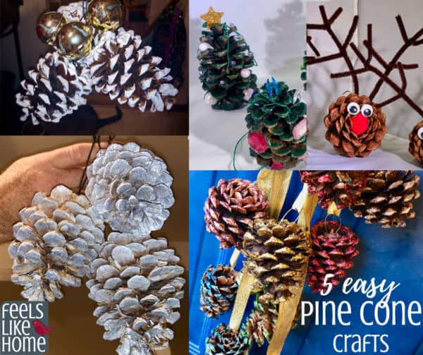 Easy & pretty DIY pine cone crafts for kids and adults - These craft ideas are so simple even preschoolers can make them, but most are chic and sophisticated enough for tweens, teens, and adults! These projects work well with big or small pine cones and make great Xmas gifts or decorations. Perfect for children in kindergarten or any age.