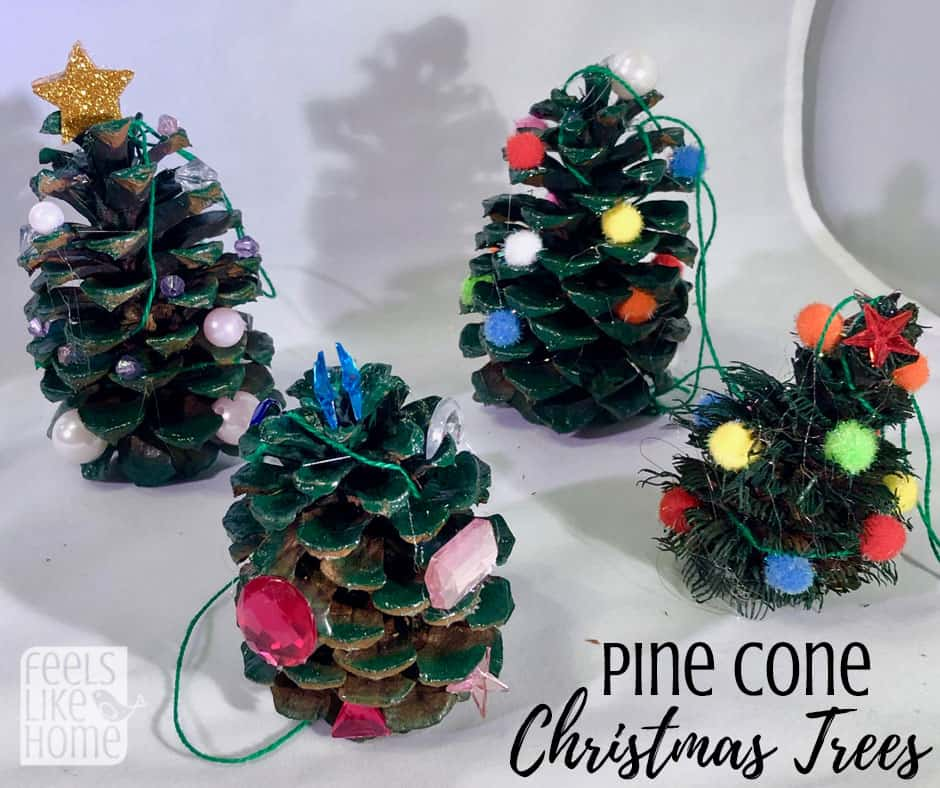 Pine Cone Christmas Ornaments To Make.Easy Pine Cone Christmas Tree Ornament Craft For Kids