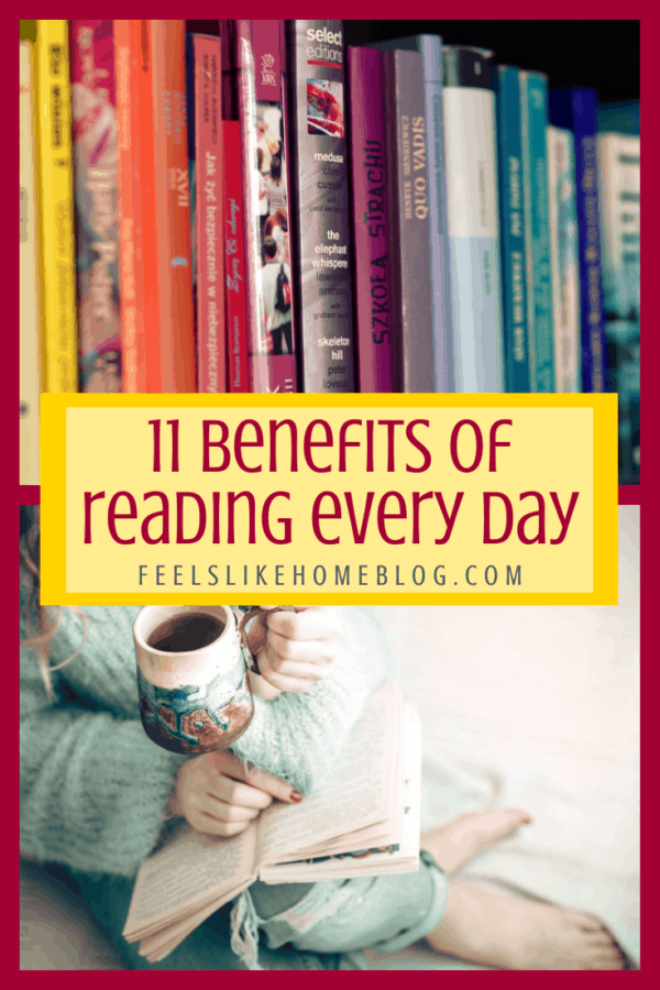 11 daily health benefits of reading every day - These benefits can be seen in as little as 6 to 20 minutes a day. Great for the brain, cognitive function, and even preventing Alzheimer's disease.