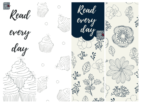 A close up of printable bookmarks