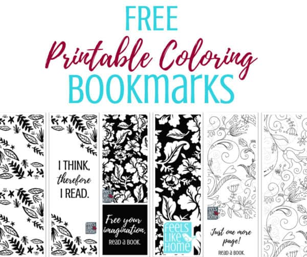 "picture about Bookmarks Printable identified as Cost-free Printable Coloring Bookmarks Feels Which includes Homeâ""¢"
