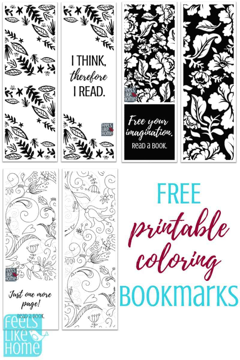 photograph relating to Cute Bookmarks Printable titled Printable Coloring Bookmarks
