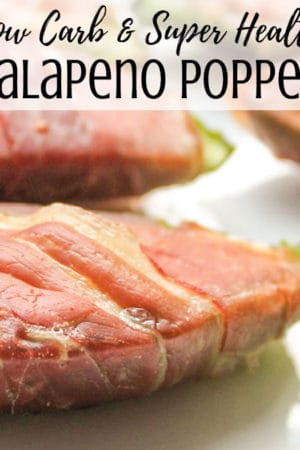 How to make the best homemade, healthy, low carb jalapeño pepper poppers wrapped in bacon or pancetta. They are baked in the oven or air fryer, not fried in oil. Simple & easy to make stuffed with herb cream cheese. Good for keto or paleo diets.