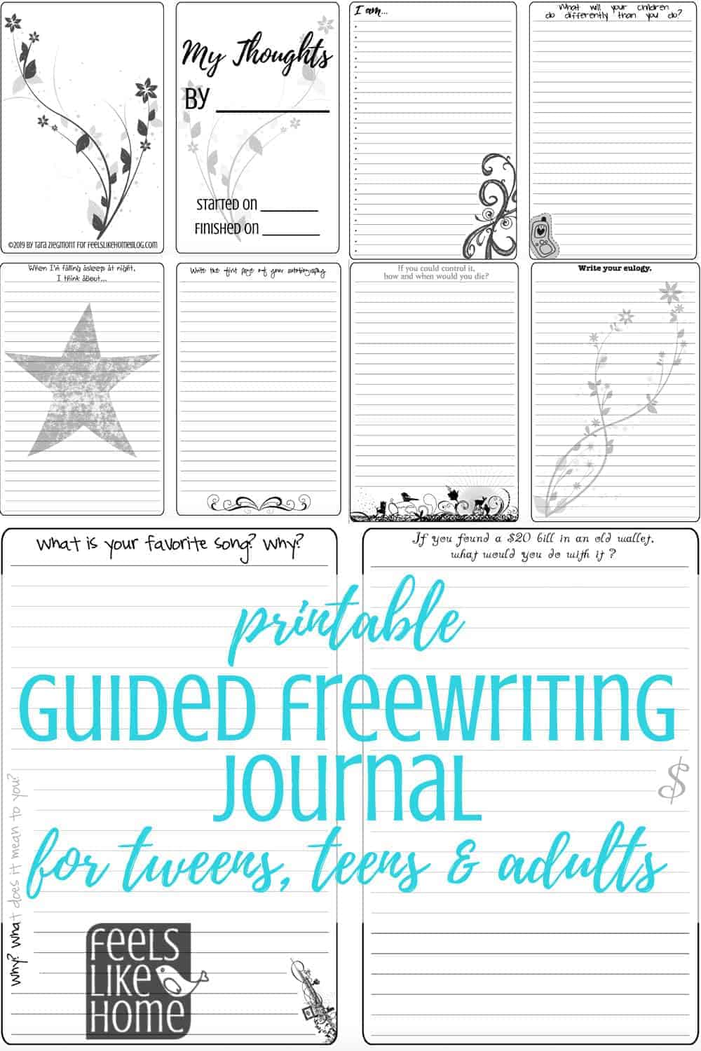 graphic relating to Printable Journal titled My Concerns: A Printable Guided Freewriting Magazine for Tweens, Teenagers,  Older people