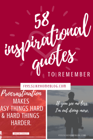 58 inspirational quotes for men and women - Motivation, encouragement, and thoughts on God and life. Positive thoughts about strength, love, work, change, happiness, success, fitness, moving on, relationships, dreams, hopes, and family and friendships. Printables to use as affirmations.