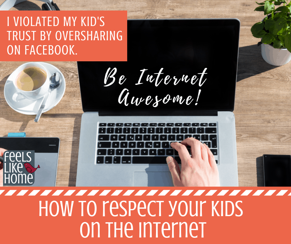 Be internet awesome - Teaching parents how to show respect to their kids through their online internet behavior. Thoughts and truths on safe internet usage for parents, teachers, and kids. Words and pictures posted without thinking can hurt. These life lessons will work for boys and girls and men and women. #SaferInternetDay #BeInternetAwesome #Sponsored