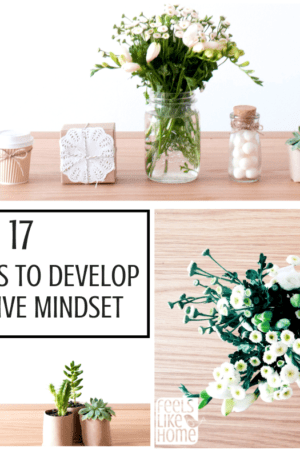 17 easy ways to develop a positive mindset - The power of a positive outlook is great and far-reaching. Inspiration and motivation for healthy thinking at work and at school. These activities, tips, and ideas work for women and men and even kids and teens. Lots of Christian life thoughts for making you happy through prayer, scripture, and more.