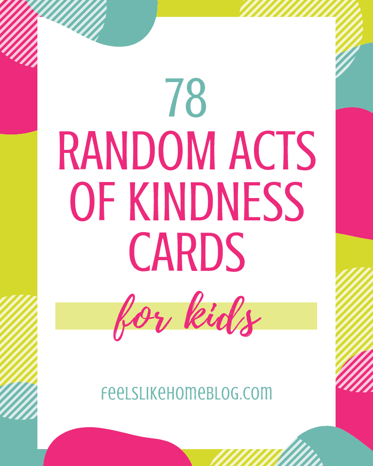 photograph regarding Printable Cards for Kids titled 78 Random Functions of Kindness Playing cards for Little ones