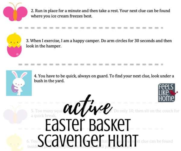 "photograph regarding Easter Basket Printable identify Totally free Printable Easter Scavenger Hunt Feels Such as Homeâ""¢"