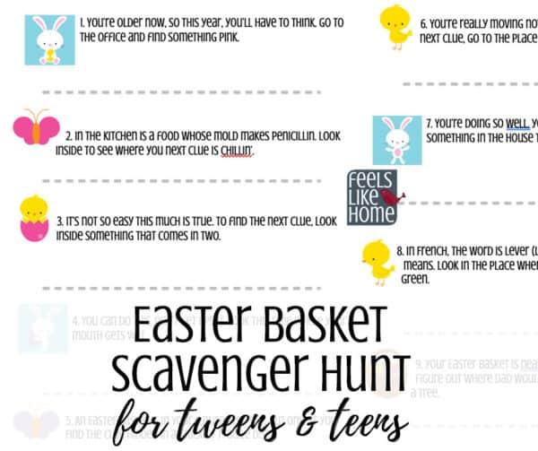 challenging clues for tweens and teens