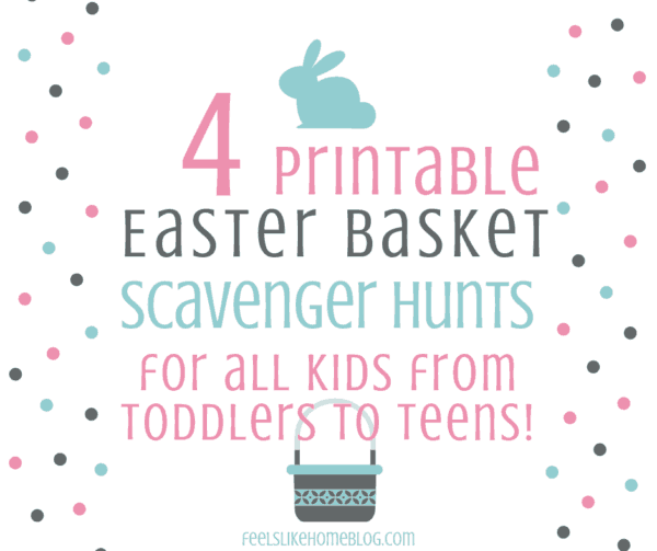 graphic about Easter Basket Printable named 4 Totally free Printable Easter Basket Scavenger Hunts for Young children of