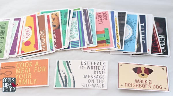 photo relating to Random Acts of Kindness Cards Printable referred to as 78 Random Functions of Kindness Playing cards for Little ones